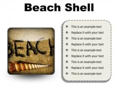 Beach Shell Holidays PowerPoint Presentation Slides S