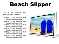 Beach Slipper Holidays PowerPoint Presentation Slides F