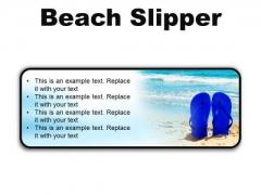 Beach Slipper Holidays PowerPoint Presentation Slides R