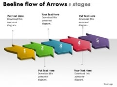 Beeline Flow Of Arrows 5 Stages Chart Slides Free PowerPoint