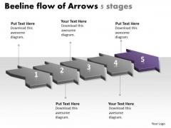 Beeline Flow Of Arrows 5 Stages Ppt Free Flowchart Program PowerPoint Templates