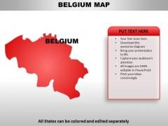 Beligium PowerPoint Maps