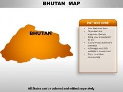 Bhutan PowerPoint Maps