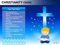 Bible Christianity Cross PowerPoint Slides And Ppt Diagram Templates