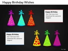 Birthday Caps PowerPoint Slides Clown Caps Ppt Templates