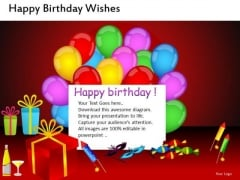Birthday Celebrations PowerPoint Templates Birthday Balloons Ppt Slides