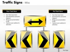 Block Border Traffic Signs PowerPoint Slides And Ppt Diagram Templates