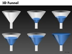 Blue Liquid Funnel Shapes For PowerPoint Templates