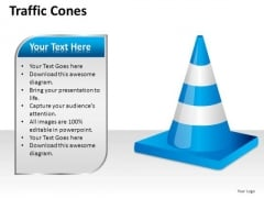 Blue Traffic Cones PowerPoint Slides And Ppt Templates