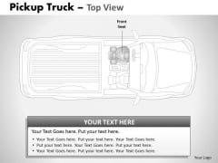 Board Pickup Brown Truck Top View PowerPoint Slides And Ppt Diagram Templates