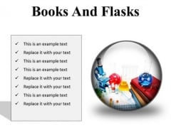 Books And Flasks Science PowerPoint Presentation Slides C