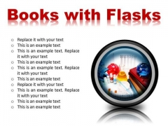 Books And Flasks Science PowerPoint Presentation Slides Cc