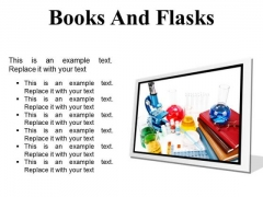 Books And Flasks Science PowerPoint Presentation Slides F