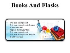 Books And Flasks Science PowerPoint Presentation Slides R