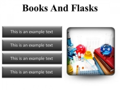 Books And Flasks Science PowerPoint Presentation Slides S