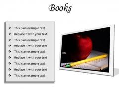 Books Education PowerPoint Presentation Slides F