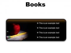 Books Education PowerPoint Presentation Slides R