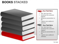 Books Stacked PowerPoint Slides And Ppt Clipart Graphics