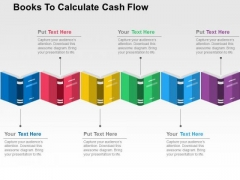 Books To Calculate Cash Flow PowerPoint Template