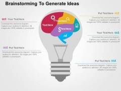 Brainstorming To Generate Ideas PowerPoint Template