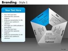 Branding Process Pentagon Diagram PowerPoint Slides Ppt Templates