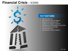 Breaking Bank Trouble PowerPoint Templates