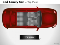Bridge Red Family Car PowerPoint Slides And Ppt Diagram Templates