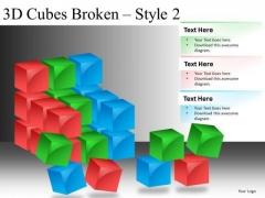 Broken Construction Blocks PowerPoint Slides