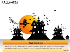 Broom Halloween PowerPoint Slides And Ppt Diagram Templates
