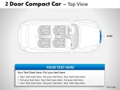 Bug Bumper 2 Door Blue Car Top PowerPoint Slides And Ppt Diagram Templates