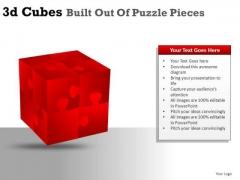 Build 3d Cube Puzzle Pieces PowerPoint Slides And Ppt Diagram Templates