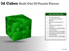 Building 3d Cube Puzzle Pieces PowerPoint Slides And Ppt Diagram Templates