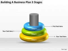 Building A Business Plan 3 Stages Ppt PowerPoint Templates