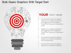 Bulb Gears Graphics With Target Dart PowerPoint Template