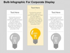 Bulb Infogarphic For Corporate Display PowerPoint Template