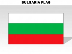 Bulgaria Country PowerPoint Flags