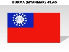 Burma Myanmar Country PowerPoint Flags