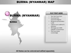 Burma Myanmar Country PowerPoint Maps