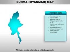 Burma Myanmar PowerPoint Maps