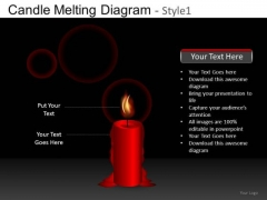 Burning Candle PowerPoint Templates