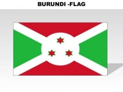Burundi Country PowerPoint Flags