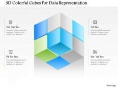 Busines Diagram 3d Colorful Cubes For Data Representation Presentation Template