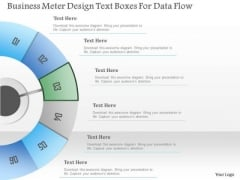 Busines Diagram Business Meter Design Text Boxes For Data Flow Presentation Template