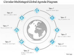 Busines Diagram Circular Multistaged Global Agenda Diagram Presentation Template