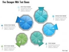 Busines Diagram Five Decagon With Text Boxes Presentation Template