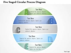 Busines Diagram Five Staged Circular Process Diagram Presentation Template