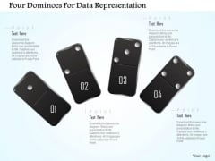 Busines Diagram Four Dominoes For Data Representation Presentation Template