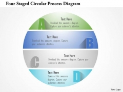 Busines Diagram Four Staged Circular Process Diagram Presentation Template