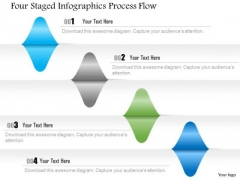 Busines Diagram Four Staged Infographics Process Flow Presentation Template