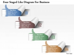 Busines Diagram Four Staged Like Diagram For Business Presentation Template